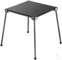 Stainless 4-feet stand 120 x 120 mm incl. glass ceramic plate stainless steel*excellent...