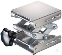 Hebebühne 75 X 80 mm, DIN 12897, rostfreie Edelstahlplatten hohe Scherstabilität, Trägerplatte...