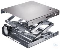 Hebebühne 130 X 160 mm, DIN 12897, rostfreie Edelstahlplatten hohe Scherstabilität, Trägerplatte...