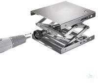 Hebebühne 200 X 200 mm, DIN 12897, verstellbar per Akkuschrauber Neukonstruktion patentamtlich...