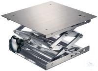 Hebebühne 240 x 240 mm, DIN 12897, rostfreie Edelstahlplatten hohe Scherstabilität, Trägerplatte...