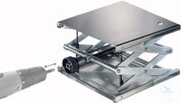 Hebebühne 400 X 400 mm, DIN 12897, verstellbar per Akkuschrauber Neukonstruktion patentamtlich...