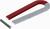 Magnet 100 mm Hufeisenform, Feldstärke 150 mT, Nordpol rot, Anker