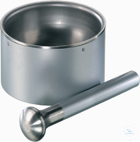 Mortar 135 mm D. with Pestle mortar and head of*pestle made from stainless steel*slip resistant feet