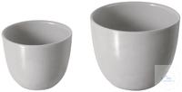 Schmelztiegel, Porzellan, 60 mm Ø, glasiert, DIN 12904 mittelhoch, Wandung 2 mm,...