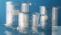 Beaker tempered 1000 ml BEAKER JACKETED For use in biological and chemical processes where...