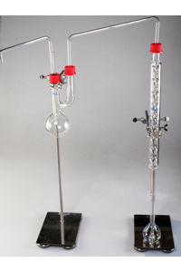 Fluoride apparatus     consisting of:  A: Distilling Flask 300 ml (2* GL 32)...