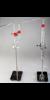 Fluorid Apparatur     bestehend aus:  A: Distilling Flask 300 ml (2* GL 32)...