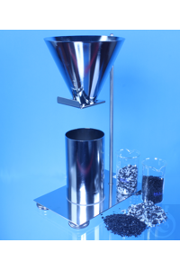 Apparatus for determination of bulk-density (DIN EN 15344:2008-02) & 2l beaker The test apparatus...