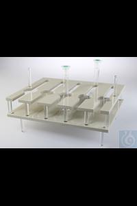 Wasserbadeinsatz für 50ml Messkolben Vorrichtung für die Aufnahme von bis zu 25 Stück 50 ml...