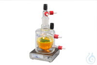 Double-jacketed round bottom flask, temperature controllable, vol. aprox. 250...
