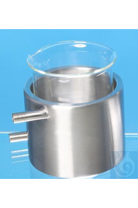 Incubation jacket, stainless steel, for 50 ml Schott beaker glass h.F. inner diameter:     aprox....