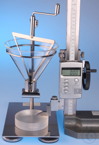 Apparatus for determination of the angle of repose DIN EN ISO 4324   This...