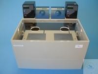 Großwasserbad / Inkubationsbad für 2 Schott Flaschen bis 10 Liter Die Rührstellen sind in einem...