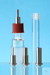 Schlauchtülle 11 mm für GL 18-Kappe, Edelstahl 1.4301 Kapillarrohr mit Grundkörper verschweißt...