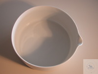 Porzellanschale mit Ausguss D 250mm  Durchmesser: 250mm Höhe: 100mm