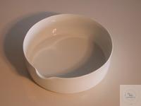 Porzellanschale mit Ausguss D 160mm  Höhe: 5cm Durchmesser: 16cm