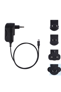 Plug-in mains adapter, 5 VDC 500 mA with European adapter Plug-in mains...