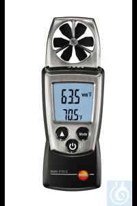 testo 410-2 - Compact Vane Anemometer (+Humidity) Measurement of air...