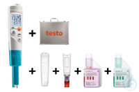 testo 206-pH1 - One hand pH/°C measuring instrument (Starter Set) Ideal for...