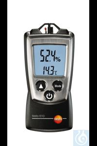 testo 610 - Compact Humidity/Temperature Meter Capacitive humidity sensor...