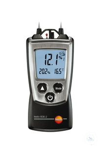 testo 606-2 - Pocket moisture meter measures the moisture content in wood,...