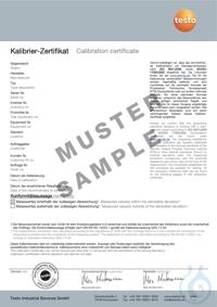 ISO-Kalibrier-Zertifikat Temperatur Überall, wo Messgeräte, Datenlogger und Fühler in...