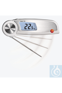 testo 104 - Digital Food Thermometer (waterproof) Automatic final value...