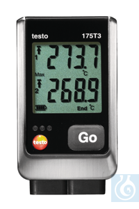 testo 175 T3 - Temperature logger Practical for frequent and long-term...
