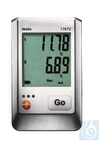 testo 176 T2 - Temperature logger Certified according to EN 12830, HACCP-compliant and waterproof...