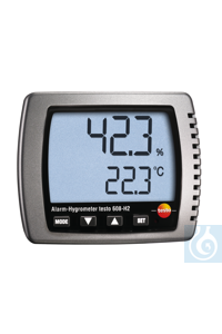 testo 608-H2 - Humidity/dewpoint/temp. Monitor LED alarm is activated when...