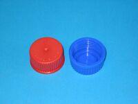 Schraubverschlusskappe blau GL45 mit Lippendichtung