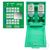 Plum Augenspülstation 4650 in Wandbox mit 2 Augenspülflaschen in...