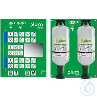 Plum Augenspülstation 4708 MAXI mit zwei Augenspülflaschen mit je 1000 ml...
