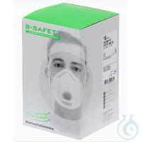 B-SAFETY pure breath Atemschutzmaske mit Ausatemventil FFP1 (10 Stück) Sehr...