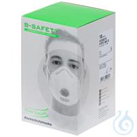 B-SAFETY pure breath Atemschutzmaske mit Ausatemventil FFP2 (10 Stück) Sehr...