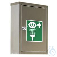 B-SAFETY Augen-Notfallstation BR324495 in staubdichtem Edelstahlschrank V4A...