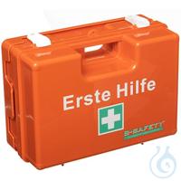 B-SAFETY Erste-Hilfe-Koffer STANDARD - Inhalt gemäß DIN 13157 aus ABS-Kunststoff, orange,...
