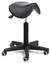 Drehhocker mit Sattelsitz Drehhocker mit Sattelsitz • Sitz aus schwarzem PU-Schaum  • Sattelsitz...