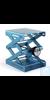Laborständer BOY 116, blau Laborständer BOY 116    Plattengröße:    180 x 216 mm  Hub:...