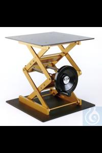 Laborständer BOY 122, gelb/schwarz Laborständer BOY 122    Plattengröße: 400 x 400 mm...