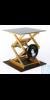 Laborständer BOY 122, gelb / schwarz Laborständer BOY 122    Plattengröße:     400 x 400 mm...
