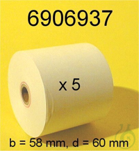 Printer paper, YDP02/03/04, 57mmX40m,5ea Printer paper, YDP02/03/04, 57mmX40m,5ea
