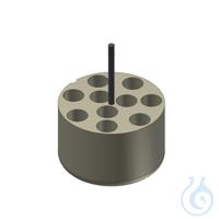 Träger für 10 Eppendorf Reaktionsgefäße Adapter für 10 Gefäße 5,0 ml, 1 Set =...