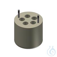 Träger für 5 Kultur Röhrchen 15ml Adapter für 5 Gefäße 15 ml, 1 Set = 2 Stk