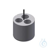Träger für 3 Kultur Röhrchen 50ml Adapter für 3 Gefäße 50 ml, 1 Set = 2 Stk