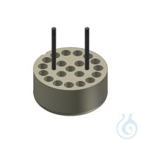 Träger für 20 Reaktions Röhr. 1.5/2.0 ml Adapter für 20 Gefäße 1,5|2,0 ml, 1...