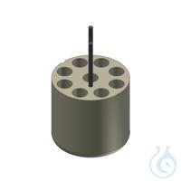Träger für 9 Kultur Röhrchen 15ml Adapter für 9 Gefäße 15 ml, 1 Set = 2 Stk