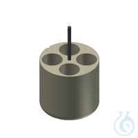 Träger für 4 Kultur Röhrchen 50ml Adapter für 4 Gefäße 50 ml, 1 Set = 2 Stk