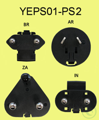 Netzstecker-Adapter-Set AR / BR / IN /ZA adapter for the countries AR, BR,...